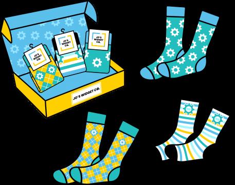 Gift Box Full of Socks
